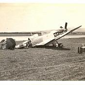 Wrecked Spitfire - Tail chewed up