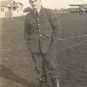 Frank Fahy while training with Empire Flying School