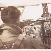 Jack in the cockpit of an Airspeed Oxford at 1 Service Flying Training School, Point Cook, Victoria