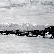 OTU Peshawar 1945 - Lineup of Hurricanes