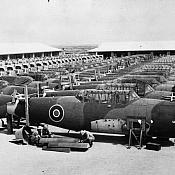 Vultee Vengeance fuselages, newly arrived from the United States, under inspection at No. 1 (India) Maintenance Unit, Drigh Road, India