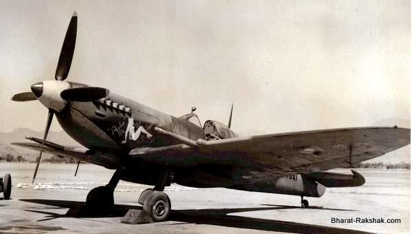 Spitfire MkVIII MT841 of No.2 Squadron RIAF at Kohat. (www.bharat-rakshak.com)