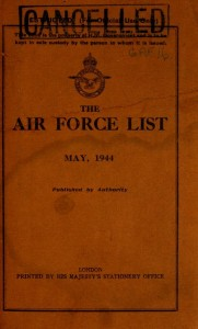 An Air Force List from the National Library of Scotland Archive on Archive.org