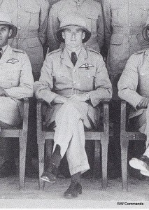 Flt Lt Haynes in a customary photograph taken before their flight to Peshawar in April 1936