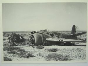 Crashed RAF Bomber Desert